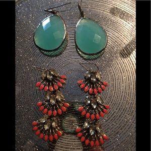 Stella & Dot 2 pairs of earrings